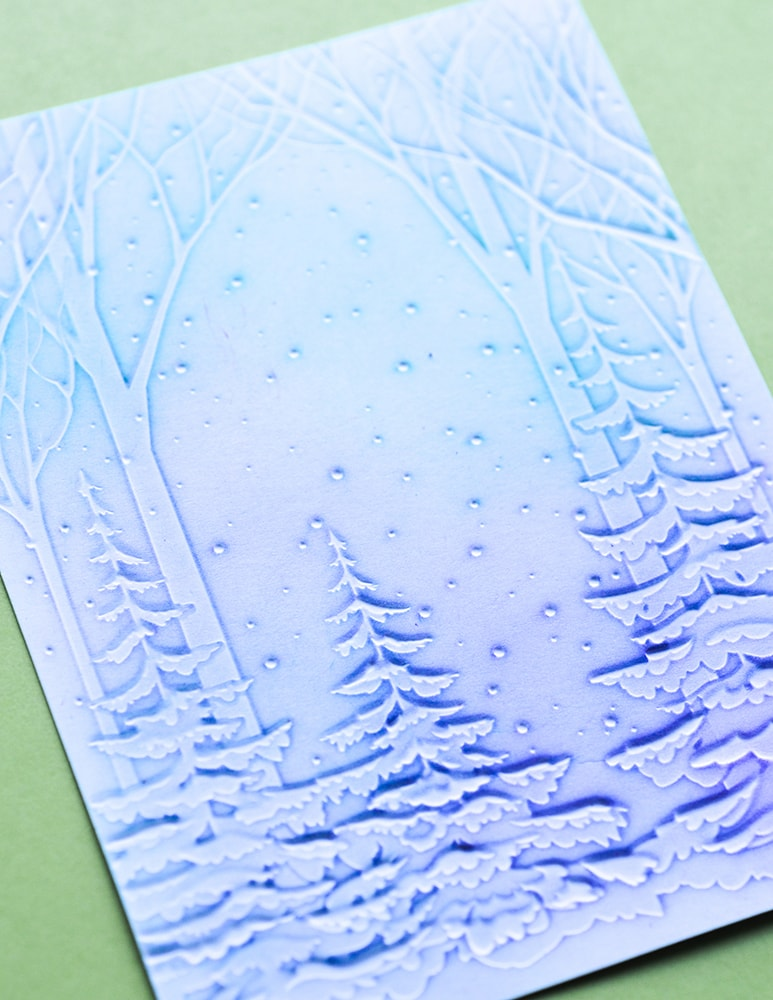 EF1010 Snowy Forest 3D Embossing Folder
