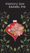Poinsettia Ornament Enamel Pin