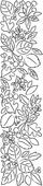 F2046 Blooming Leaf Border wood mounted stamp