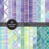 PP1014 Madras Plaid Blue and Violet 6x6 pack