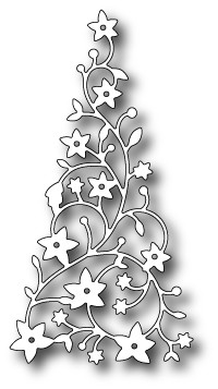 98195 Flowering Christmas Tree craft dies