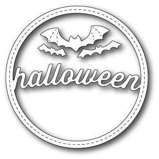 99280 Stitched Halloween Circle Frame craft dies