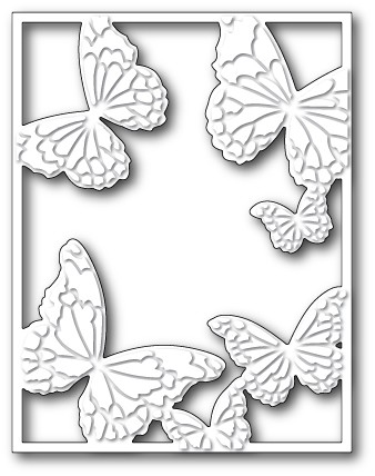 99372 Hovering Butterfly Frame craft die