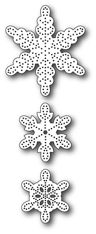 99560 Pinpoint Snowflakes craft die