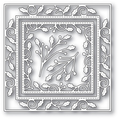 94018 Elegant Holly Double Frame craft die