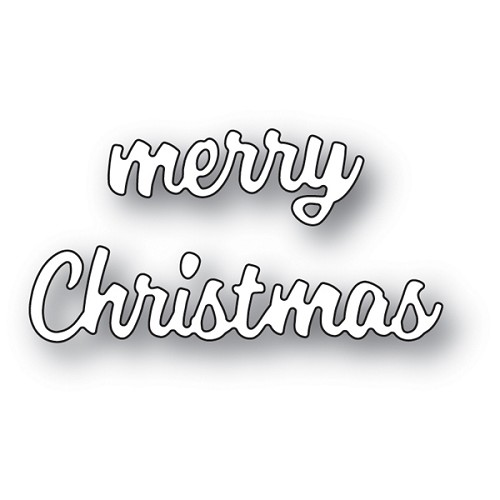 94022 Merry Christmas Cheshire Script craft die