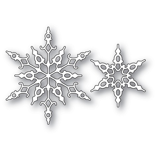 94033 Crystal Snowflakes craft die