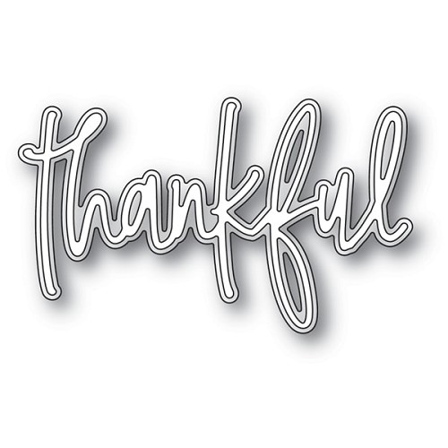 94076 Thankful Jotted Script craft die