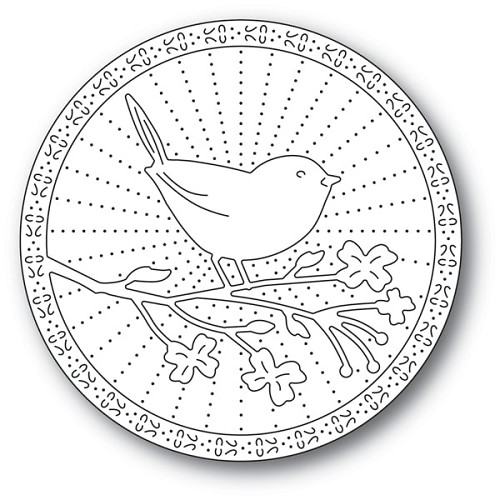 94244 Perched Bird craft die