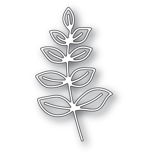 94274 Scribble Leafy Branch Outline craft die