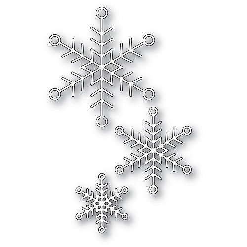 94284 Jolly Snowflake Trio craft die