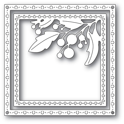 94301 Harvest Branch Corner Frame craft die