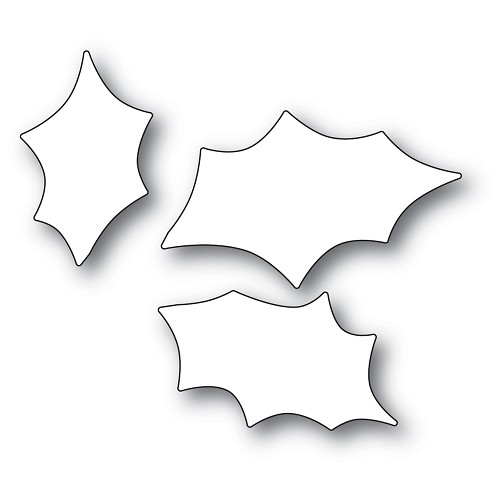 94351 Scribble Holly Trio Background craft die