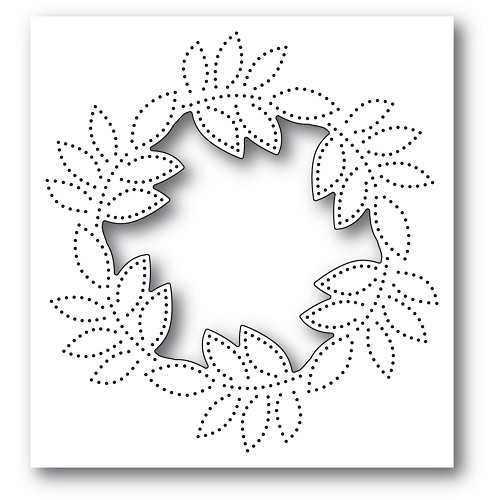 94384 Pinpoint Leaf Circle Collage craft die