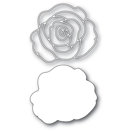 94451 Graceful Rose and Background craft dies