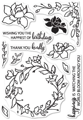 CL5197 Watching the World Bloom clear stamp set