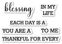 CL5214 Each Day is a Blessing Clear Stamp Set