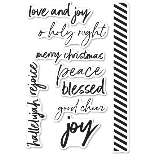 CL5233 Bold Christmas Greetings clear stamp set