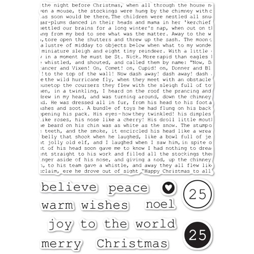CL5234 Typewriter Holiday Elements clear stamp set