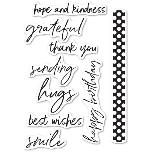 CL5236 Bold Friendly Greetings clear stamp set