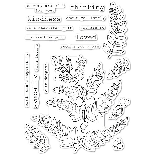 CL5249 Fern and Berries clear stamp set
