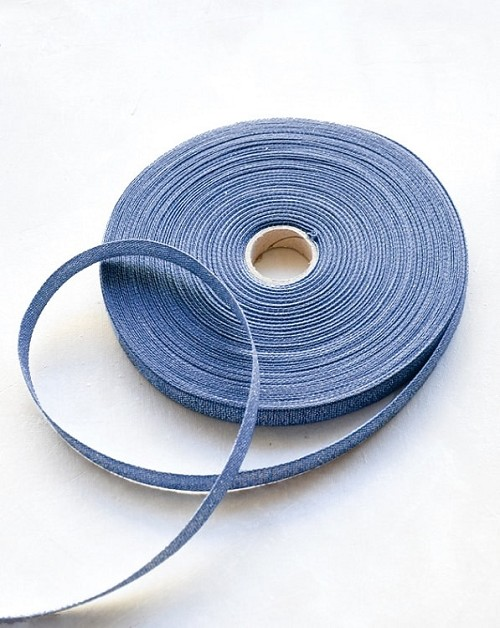 33102 Denim Metallic Ribbon